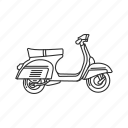 motor, motorcycle, ride, scooter, transportation, travel, vehicle icon