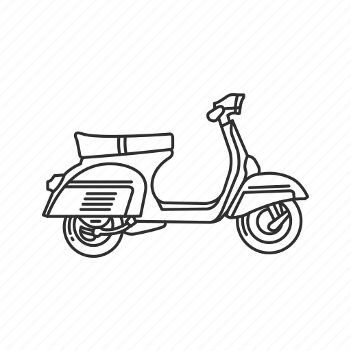 Motor, motorcycle, ride, scooter, transportation, travel, vehicle icon - Download on Iconfinder