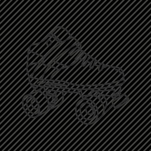 Skating, rollerblades, roller skate, skate, sport, foot wear, transport icon