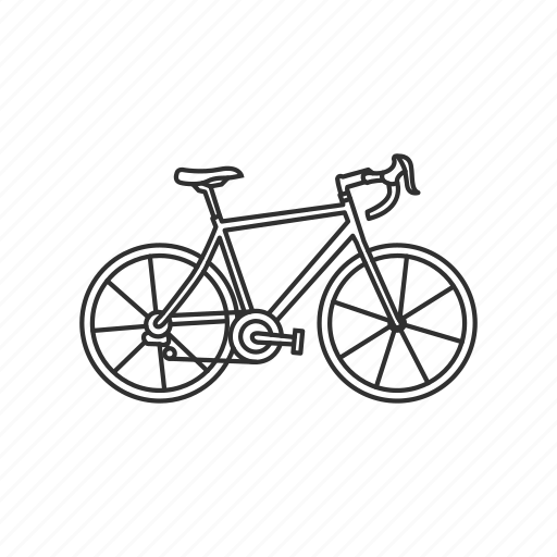 bicycle, bike, cycle, ride, road, transportation, travel icon