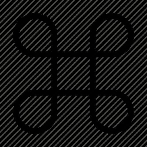 apple, command, gorgon, key, loop icon