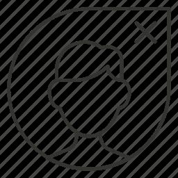 close, contact, delete, man, profile, remove icon