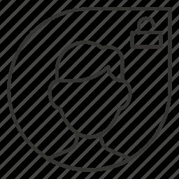 contact, man, profile, security, unlock, user icon