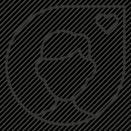 avatar, favourite, man, person, profile icon