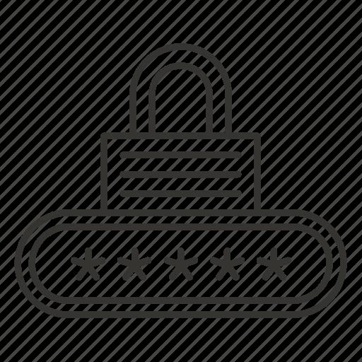 auth, lock, login, pass, password, security icon