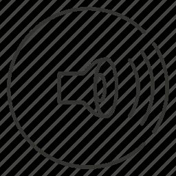 loud, music, sound, volume, waves icon