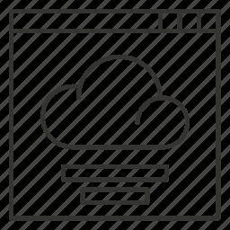 cloud, interface, page, storage, window icon