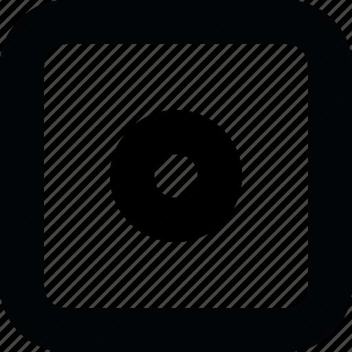 audio, music, player, record, square, ui, video icon