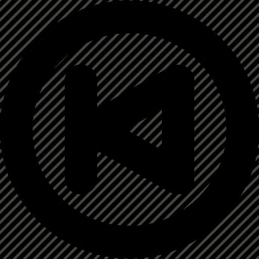 audio, backward, circle, music, player, ui, video icon