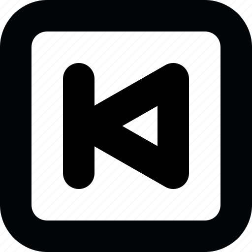 audio, backward, music, player, square, ui, video icon