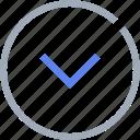 arrow, control, download icon