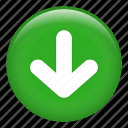 arrow, arrows, direction, directional, down arrow icon
