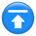arrow, file upload, interface, up arrow, upload icon