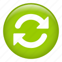 arrows, circular arrow, direction, orientation, refresh, reload icon