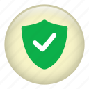 checked, defense, protect, protection, secure, security, shield icon