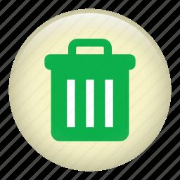 bin, delete, garbage bin, garbage can, rubbish bin, trash icon