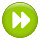 fast forward, music player, right arrow, speed up, video player icon