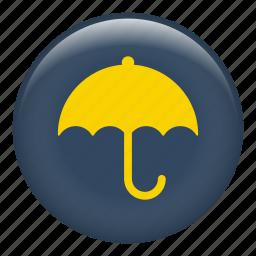 meteorology, protection, rain, rainy, umbrella, weather icon