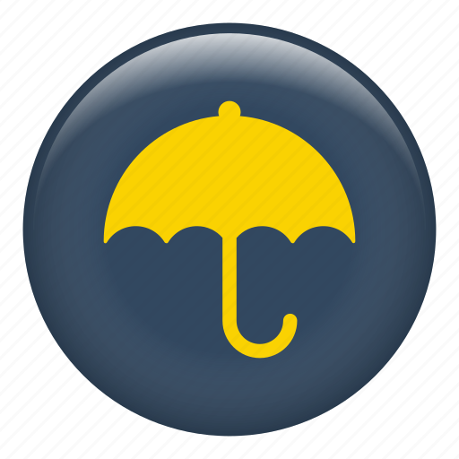 meteorology, protection, rain, rainy, umbrella, weather icon