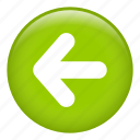 arrow, back, left, left arrow, previous, return icon