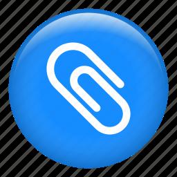 attach, attachment, clasp, clip, data, document, pffice material icon