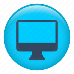 computer, device, monitor, open, screen, serious, view icon