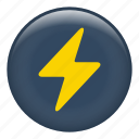 danger, electric, energy, flash, lighting, rain, weather icon