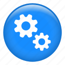 cog, cogwheel, configuration, gears, options, settings icon