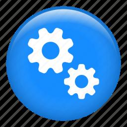cog, cogwheel, configuration, gears, options, settings icon