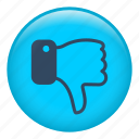 dislike, finger, fingers, hand, interface, thumb down icon
