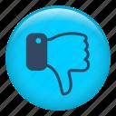 fingers, hand, finger, interface, dislike, thumb down