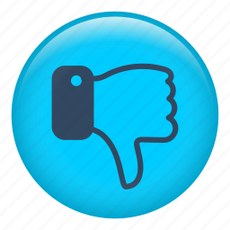 dislike, finger, fingers, hand, interface, thumb down icon