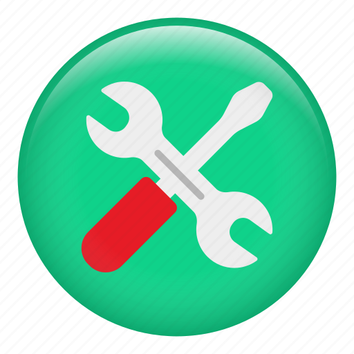 equipment, garage, repair, screwdriver, spanner, tools, wrench icon