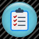 checked list, checklist, completed, jobs, list, menu