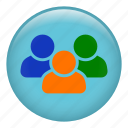 friends, group users, multiple users, people, social network, users