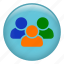 friends, group users, multiple users, people, social network, users icon