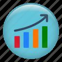 arrow, bars chart, business, chart, diagram, finance, graph