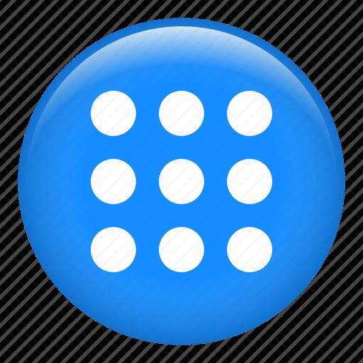 apps, choices, circle, grid, menu, options, setup icon