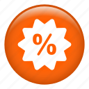 discount, label, percentage, price, sale, sticker, tag icon
