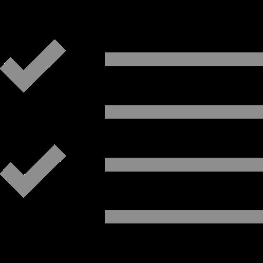 check, checklist, list, mark, process, success icon