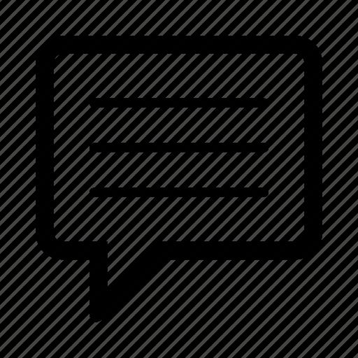 bubble, chat, feedback, ios, message, speech, speech bubble icon
