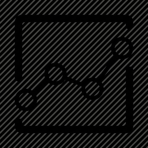 chart, diagram, graph, ios, line graph, schedule, statistics icon
