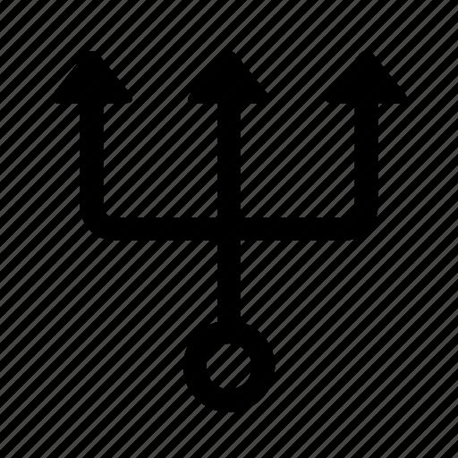 gear box, ios, path, trident, way, ways, web icon