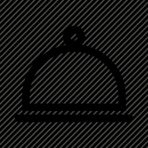 cloche, ios, restaurant, ring, service, tray, web icon