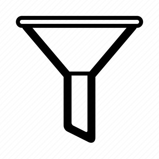 filter, funnel, ios, kitchen funnel, sales funnel, sort, web icon