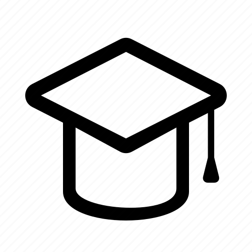 education, hat, ios, learning, mortar board, student, web icon