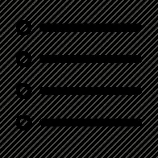 bullet list, check list, ios, list, marker list, to do list, web icon