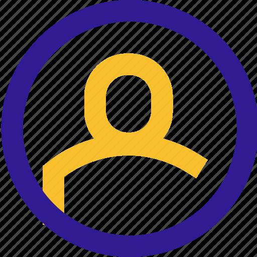 avatar, basic, circle, line, ui icon