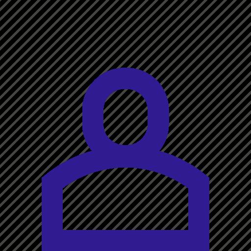 avatar, basic, line, person, ui icon