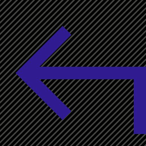 back, basic, line, ui icon